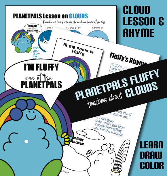 Learn about the clouds with Fluffy classroom activity