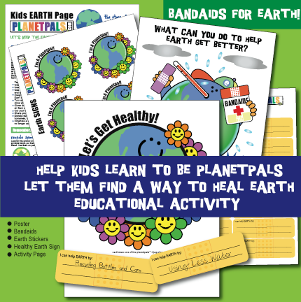 Planetpals Earth Bandaids XClassroom Activity Set
