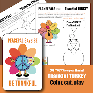 Thankful turkey thanksgiving activity for kids