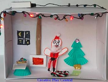 Christmas Shoebox Diorama.Planetpals Craft Page Make A Shoe Box Diorama Recycle