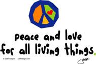peace love world earth