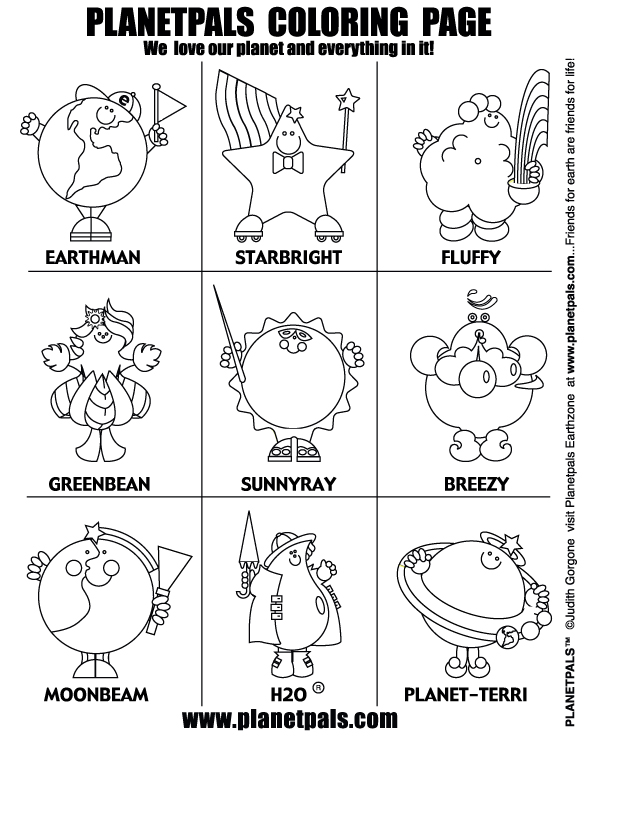 Planetpals Exclusive Free Eco Friendly Green Coloring Activities ...