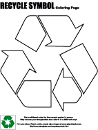 recycle symbol coloring