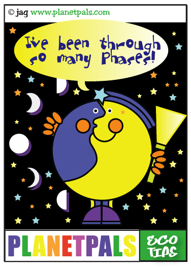 planetpals eco tips moon phases