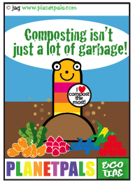 Let Squirmy Wormy teach you about composting
