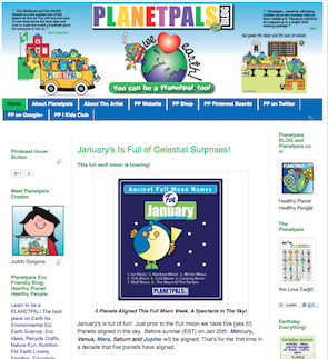 Planetpals Blog Green Eco friendly Fun for Earthday and Everyday.  We Love Earth!