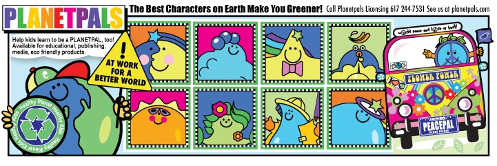 Earthday License planetpals cahracters they love earth