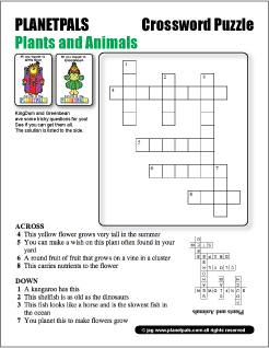 Name The Planetpals Plants Animals Puzzle