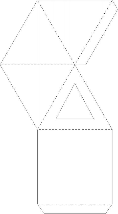 Pyramid Box Template For Favor Boxes! Http://Www.Planetpals.Com