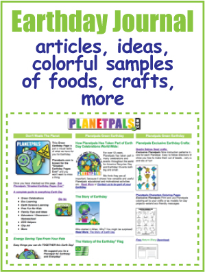 Earthday journal Ideas Crafts from Planetpals