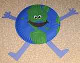 paper plate earthman for Earth Day