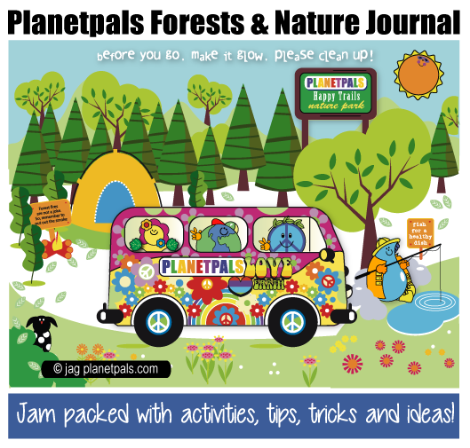 Planetpals Forest and Nature  Journal Eco Friendly Crafts Ideas Tips Activities for Kids Family