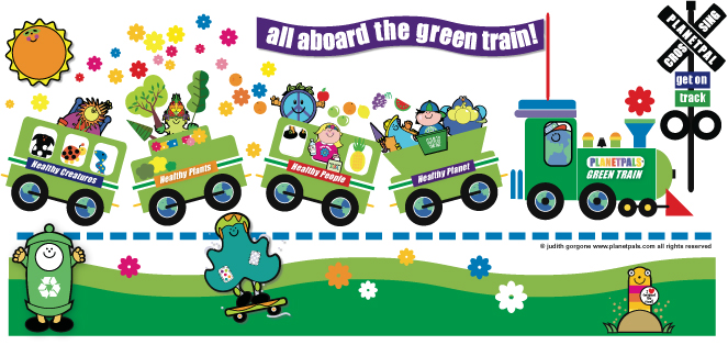 planetpals green train