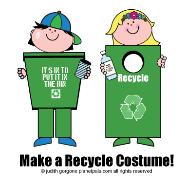 Be a Recycle Bin, Recyle Costumes, Recycle Bins, How to make ...