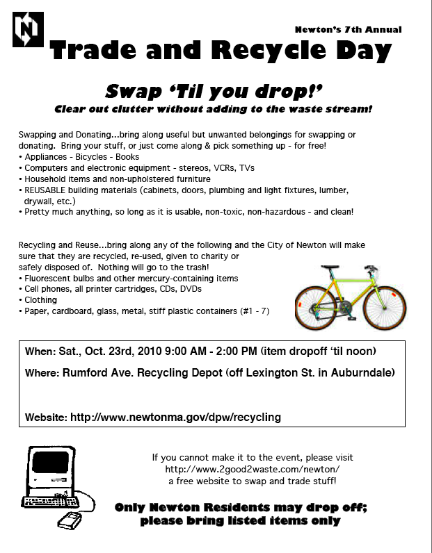 Neighborhood, Community Swap Tips and Directions Fundraiser