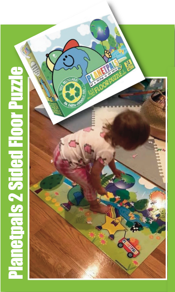 Taylor Plays with Planetpals Floor Puzzle!