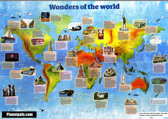 wonders of the world free chart