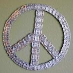 pop top peace sign recycle craft