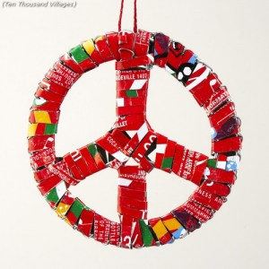peace sign recycle craft wrappers