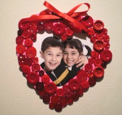 make a button frame foe valentines day