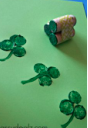 diy cork shamrock st pat recycle craft
