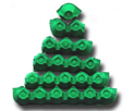 egg carton recycle art christmas tree