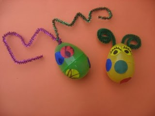 plastic egg animals