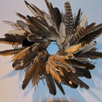 feather wreath autumn