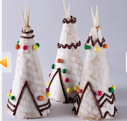 food art indian teepee