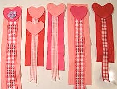 heart bookmark ribbons