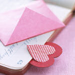 heart scraps bookmark craft