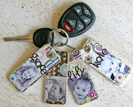 mothers day fathers day recycle craft keychain