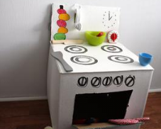 kids kitchen from boxes