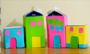 milk carton box buildings houses