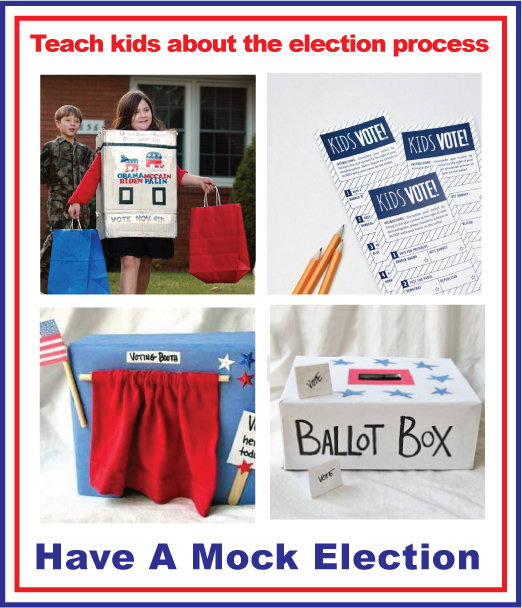 have a DIY Mock election for kids