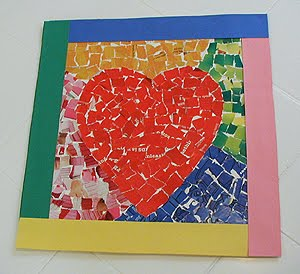Craft Ideas  Recycled Materials on Recycle Mosaic Cards Or Decorations Make A Heart Or A Couple Of Hearts