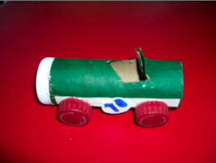 paper tube racecar recycle craft preschool kids