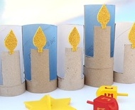 recycle menurah craft kids
