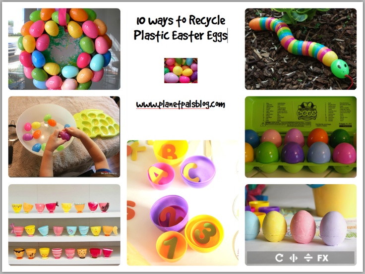recycle plastic eggs crafts