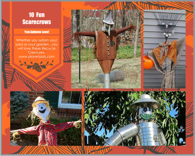 recycle upcycle scarecrows diy