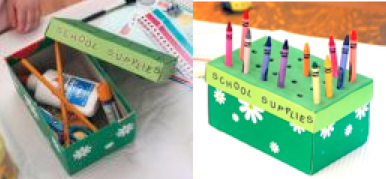 Planetpals recycle kids crafts earthday everyday paper for Reuse shoe box ideas