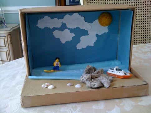 Craft Ideas  Waste on Planetpals Craft Page  Make A Shoe Box Diorama Recycle Project With