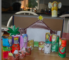 shoebox natvity recycle craft
