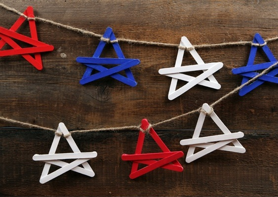 star garland popsicle sticks recycle craft