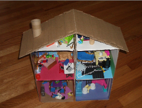 recycle doll play toy house to make