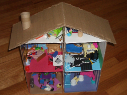 recycle doll play toy house