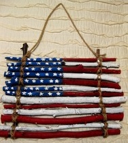 flag made of twigs or sticks