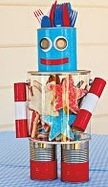 usa uncle same recycle craft