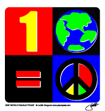 one world equals peace