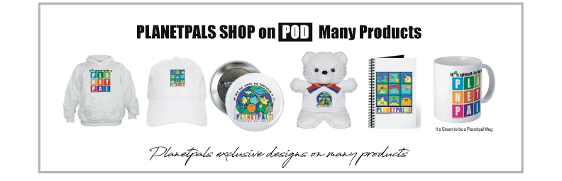Planetpals products and Exclusive Designs for Earthday and Everyday!